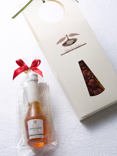 メデリュの高知県産フルーツトマト,OSUYのデザートビネガー・国産蜂蜜と王林