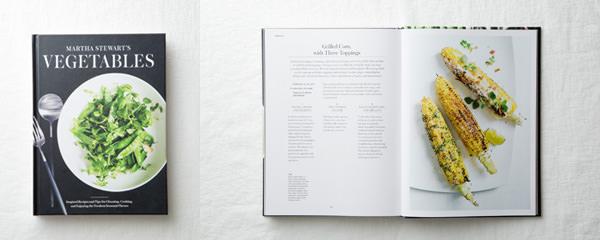 マーサ・スチュワートのMARTHA STEWART'S VEGETABLESの表紙と中面