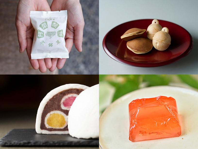 満月の阿闍梨餅、鈴懸の鈴乃最中、とらやの蓬が嶋、叶 匠壽庵の標野など
