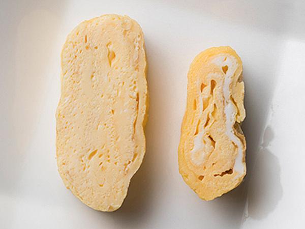 ふわふわ卵焼きとそうでない卵焼きの違いイメージ