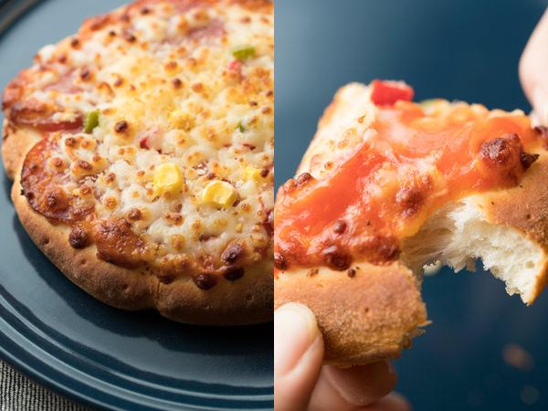 BALMUDAで焼いた焼いた冷凍ピザ