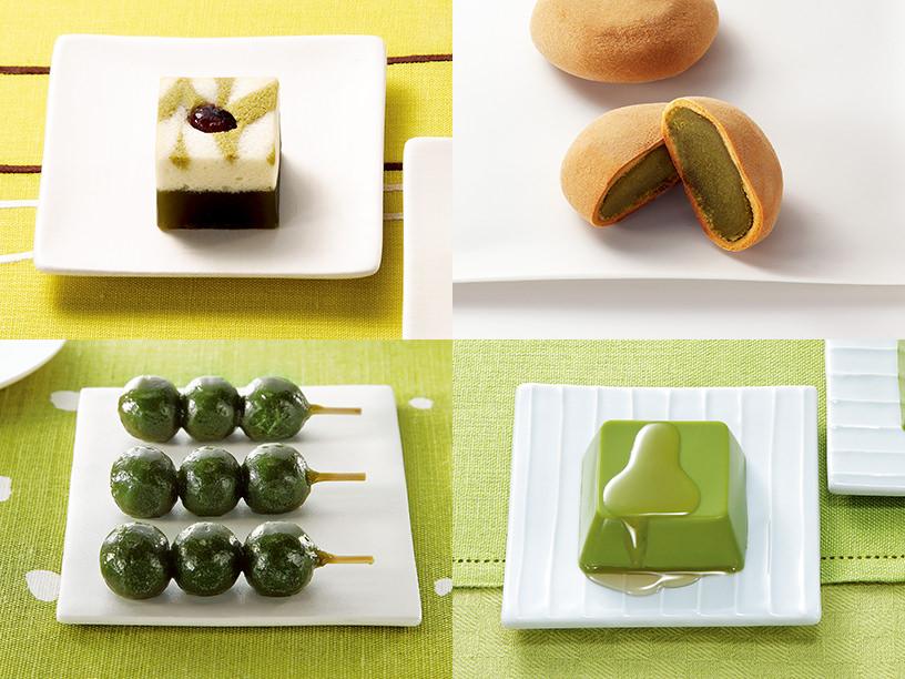 菓遊庵のお茶を使ったお菓子のイメージ