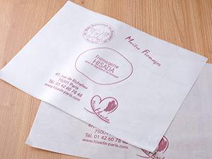 フロマジュリーHISADAで販売しているチーズを保存するペーパー