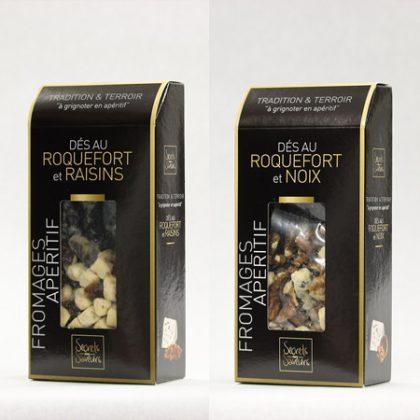 ロックフォールチーズ&レーズンとロックフォールチーズ&クルミ