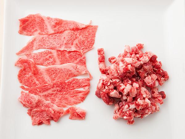 冷凍保存に向くスライス肉と冷凍に向かないひき肉