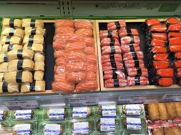 バンコク伊勢丹で売られている握り寿司