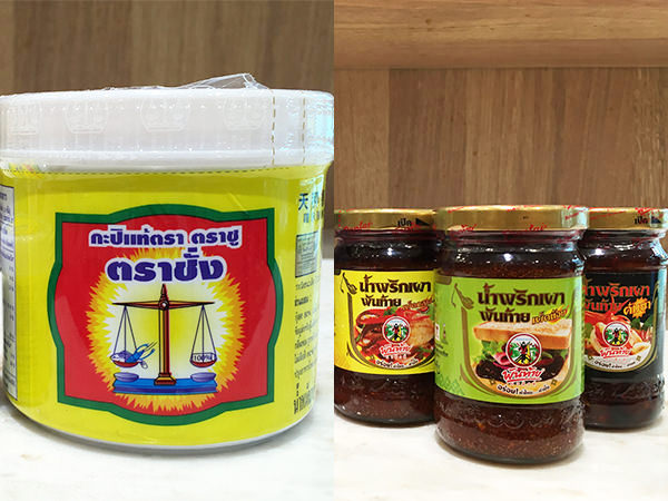 タイの調味料のカピとナムプリック