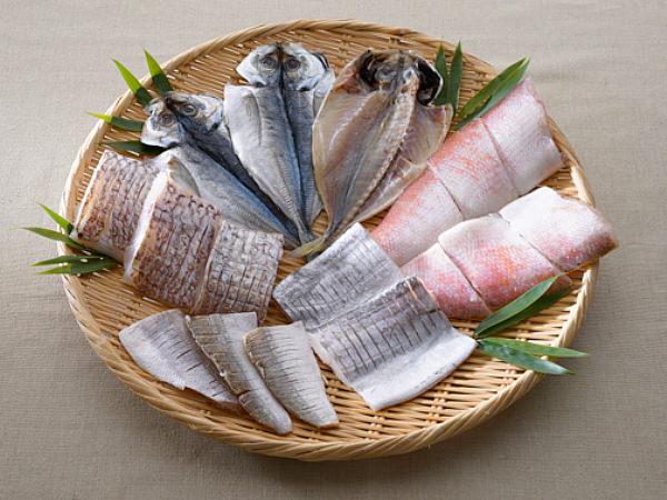 魚谷清兵衛商店の真鯛、清兵衛あじ、甘鯛、太刀魚、かますなどの干物
