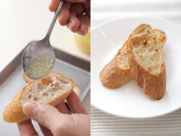 保存用のにんにくを使ったガーリックトースト