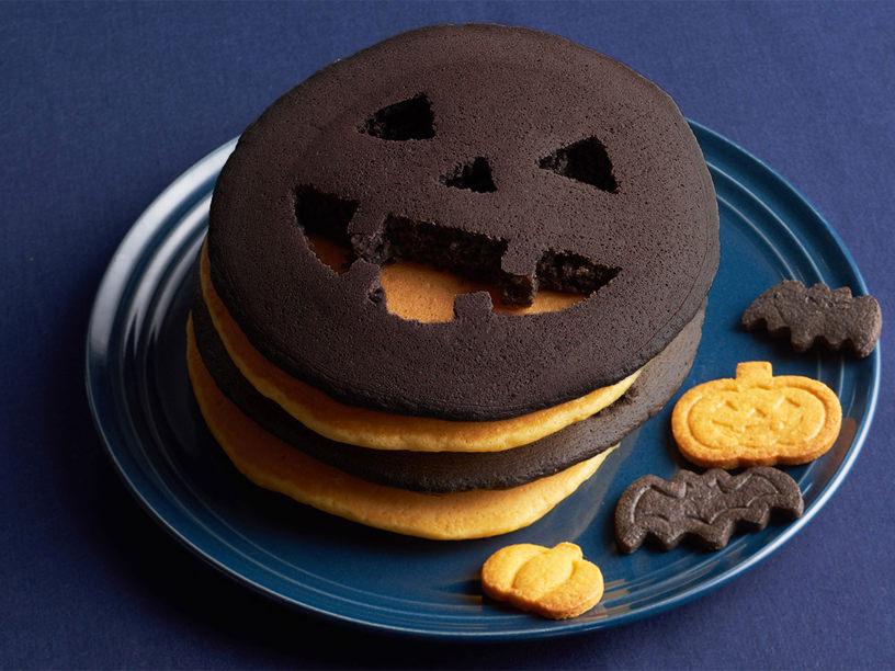 真っ黒パンケーキの焼き上がりイメージ