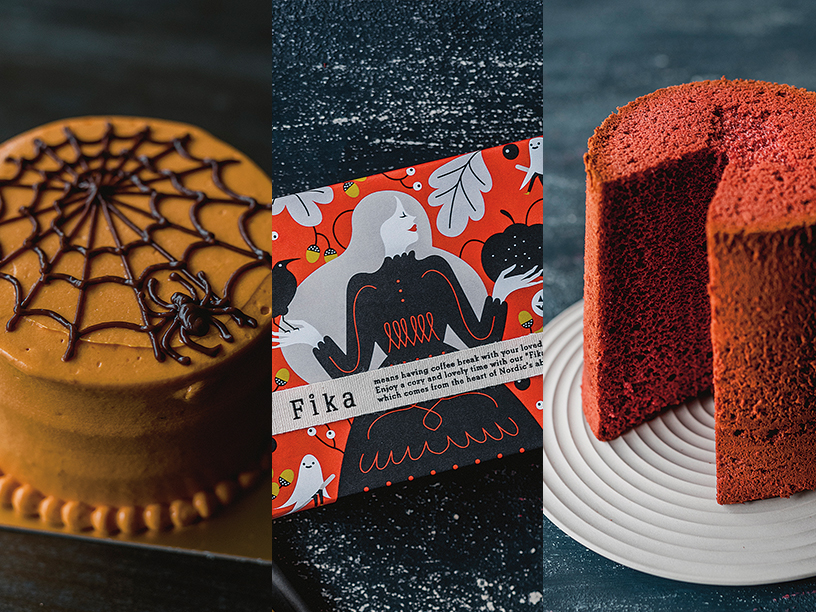 ベイクドのBAKED ケーキ ハロウィン、フィーカ>ハッロング ロットル&ドロンマル、フレイバーのレッドベルベットシフォンケーキ