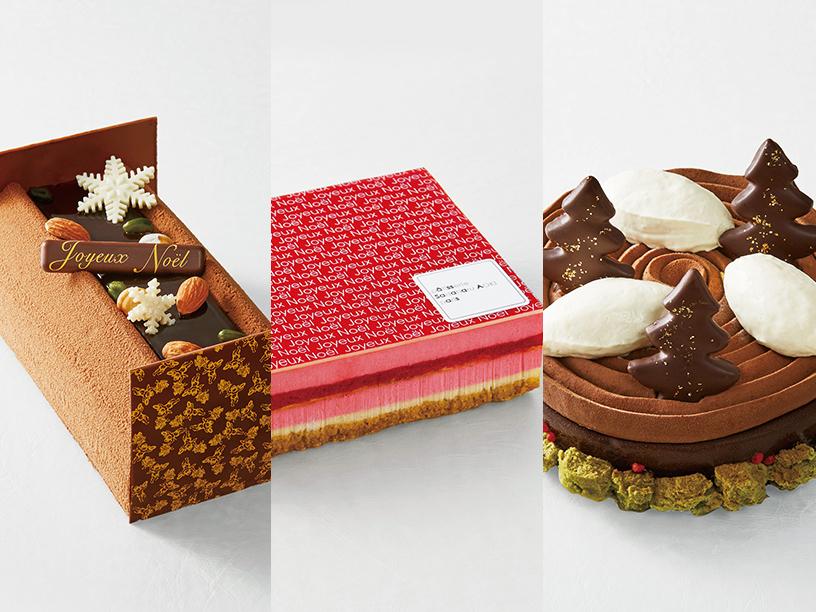 フレデリック・カッセルのブッシュ ジヴァラ、パティスリー・サダハル・アオキ・パリのノエル サヤ、パッション ドゥ ローズのショコラ フォレ