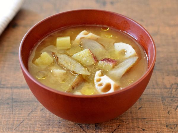 オリーブオイルと山椒の味噌汁のイメージ