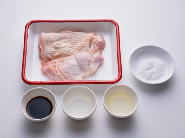 鶏の照り焼きの材料