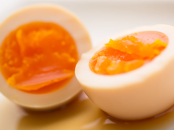 能登のゆずぽんずで漬けたゆで卵
