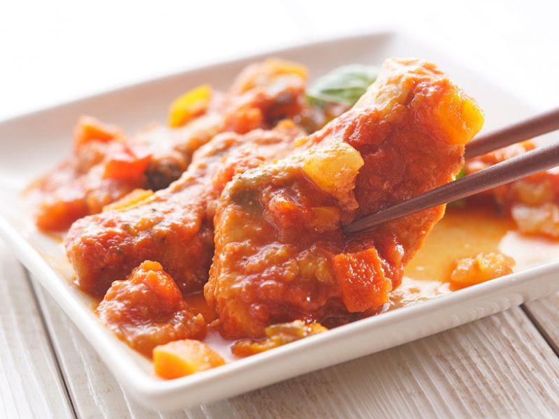サーモンの彩り野菜トマト煮のイメージ