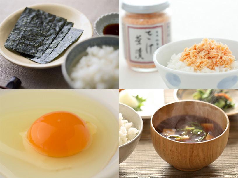 和食の朝ごはんに使うアイテムのイメージ