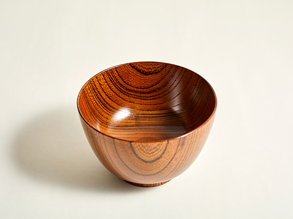 <PRODUCT PROJECT>汁椀 振り袖型 天然木(国産欅)摺漆