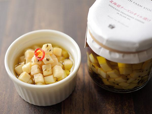 ノースファームストックの北海道チーズのオイル漬け