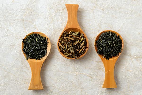 緑茶、ほうじ茶、釜炒り茶
