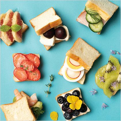 イッツ サンドイッチ マジックの「ミニサンドイッチ食パン(米粉)」でアレンジをしたサンドイッチのイメージ