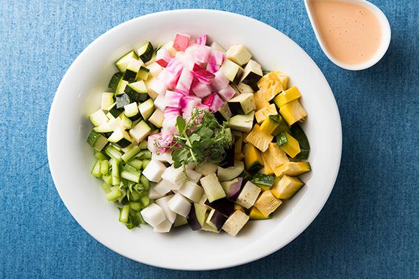 野菜のコブサラダ風
