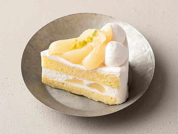 パティスリー・キハチの桃のコンポートショートケーキ