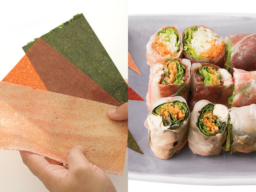 3種類のカラーシートと香龍 by PAOPAOの彩りふんわりシューマイ