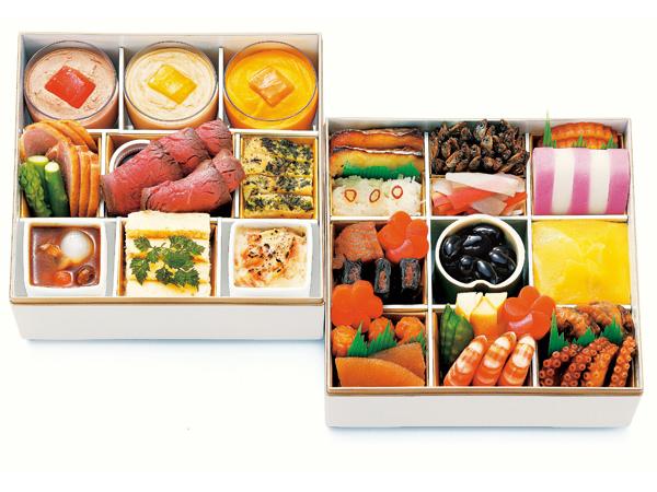 日本料理 なだ万のおせち重詰 和洋二段