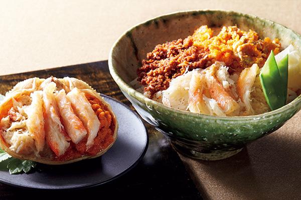 日本海産 せいこ蟹丼・せいこ蟹甲羅盛詰合せ