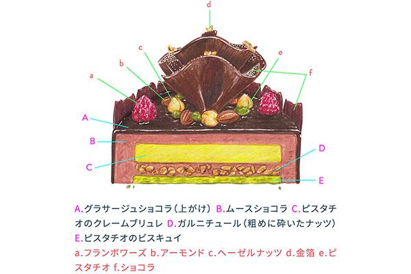 トシ・ヨロイヅカのノエル・ジャンビエールの断面図