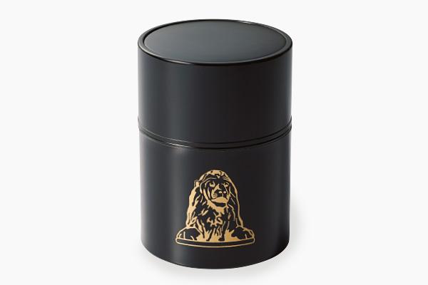 松北園の宇治煎茶「ハナカ」ライオンイラスト缶