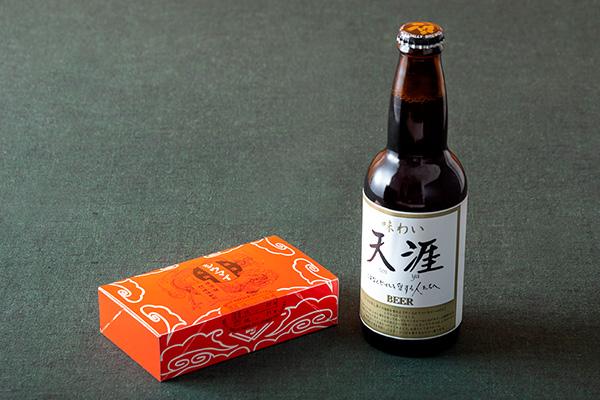 <崎陽軒>のポケットシウマイとビール「天涯」
