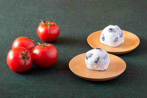 <仙太郎>の黒豆大福、<かごめ>高リコピントマト