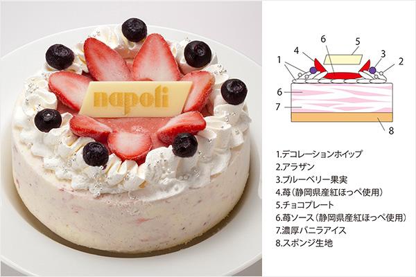 ナポリアイスクリームのストロベリーアイスケーキ