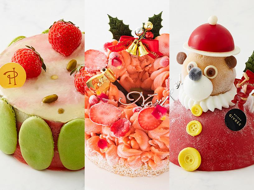 左は ピエール・エルメ・パリ、中と右はメゾン ジブレーのアイスケーキ