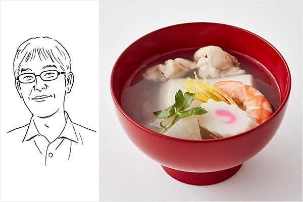 金子バイヤー雑煮イメージ+イラスト