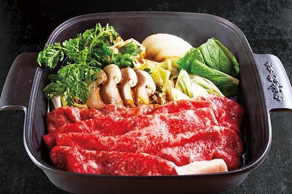赤坂 松葉屋の松茸と飛騨牛すき焼きセット