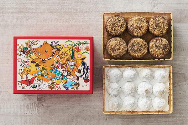 <西光亭>人気のクッキーアソートを干支モチーフの限定パッケージで