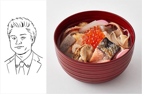 浅見アシスタントバイヤー雑煮イメージ+イラスト