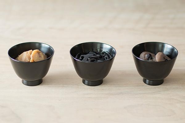 (左から)鈴懸のかの実 栗、かの実 黒豆煎り茶、かの実 黒豆