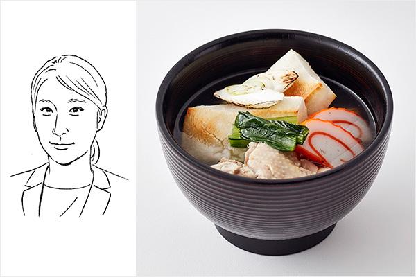 成瀬アシスタントバイヤー雑煮イメージ+イラスト