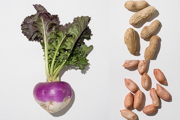 左:田村カブ 右上・右下:唐人豆