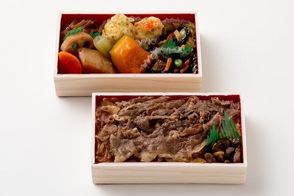 <まつおか>飛騨牛しぐれミニ二段弁当(名古屋えび天)