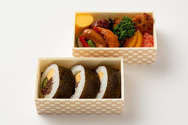 <懐石料理 青山>食べきりサイズの肉巻弁当