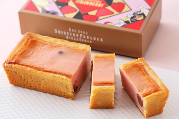 資生堂パーラーの冬の手焼きチーズケーキ(いちご)