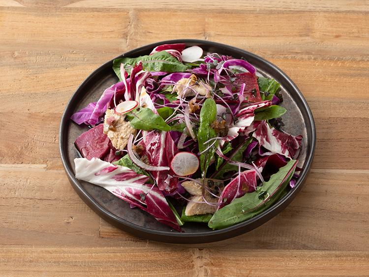 <いとはん>ポリフェノールのチカラ いわしと紫野菜の和さらだ