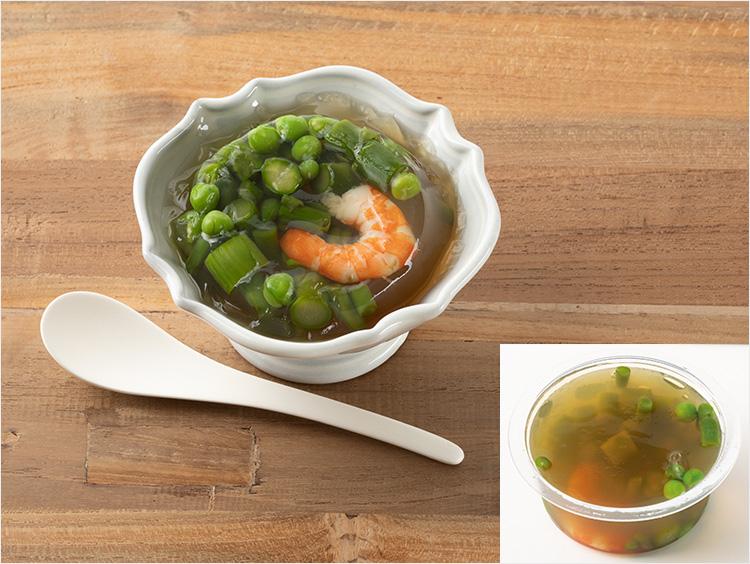 <いとはん>春野菜のおだし寄せ えんどう豆・海老