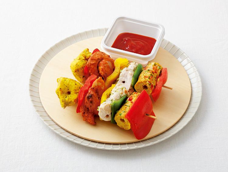 <シターラ ティアラ>チキンと野菜の串焼き