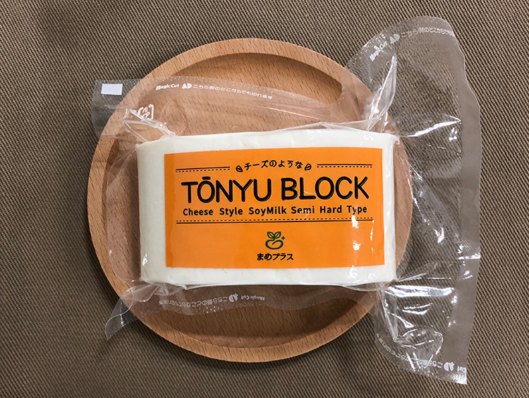 まめプラスのチーズのような豆乳ぶろっく